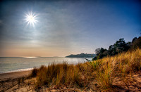 Solar eclipse Abersoch Warren beach photo ECLpsd