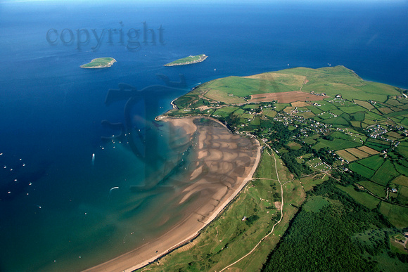 Abersoch main beach and St Tudwal's islands from the airAR3