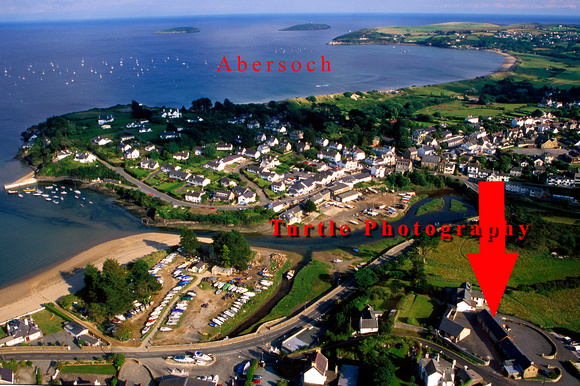 Aerial view of Abersoch