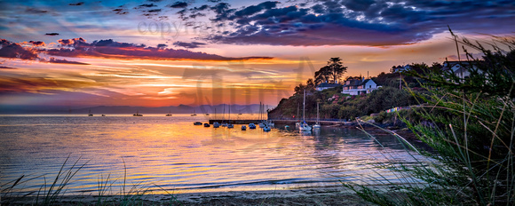 Abersoch outer harbour sunrise OHRAD