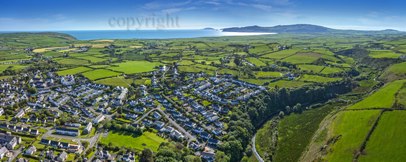 Abersoch village from air QABCD