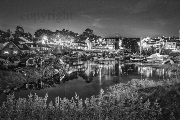 Abersoch inner harbour black & white, IHZbw