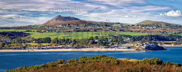 Abersoch and Mynytho from coastal path.ABCP